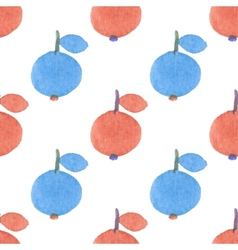 Seamless watercolor pattern with funny red and vector image