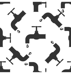 Water tap icon pattern vector