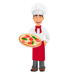 young professional chef in uniform vector image