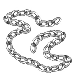 Shiny precious silver chain jewelry vector