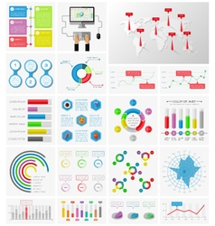 Elements of infographics collection vector image