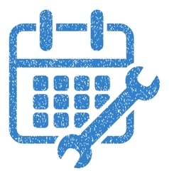 Calendar configure grainy texture icon vector