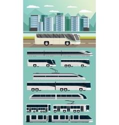 Public transport orthogonal concept vector