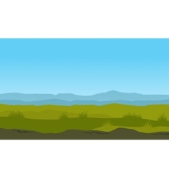 Nature landscape with mountain background vector