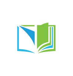 Open book education logo vector