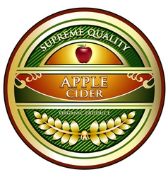 Apple cider vintage label vector
