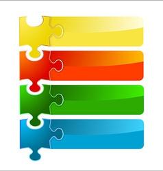Puzzle banner set vector