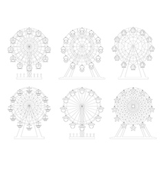 Wheel amusement park vector