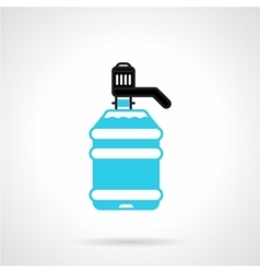 Water cooler bottle flat icon vector