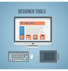 Designer tools vector