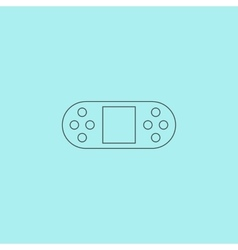 Portable video game console isolated vector