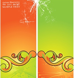 Abstract summer vector