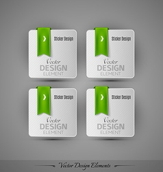 Business stickers on the gray background for vector