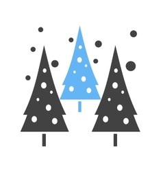 Snowing in trees vector