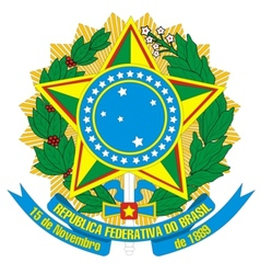 Coat of arms of brazil vector