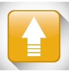 Upload button icon social media design vector