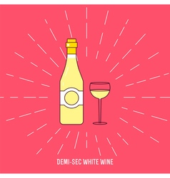 Demi sec wine vector