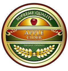 Apple cider vintage label vector