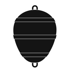 Bobber icon simple style vector