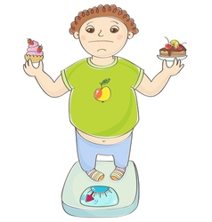 Boy with overweight vector
