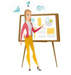 business woman giving business presentation vector image vector image