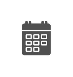 calendar simple icon event reminder sign vector image