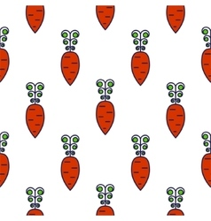 Carrot line icon seamless pattern vector image