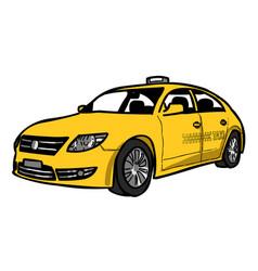 Cartoon image of taxi icon car symbol vector
