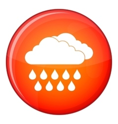 Cloud and rain icon flat style vector