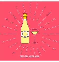 Demi sec wine vector