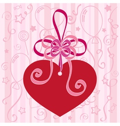 Festive background with heart vector image vector image