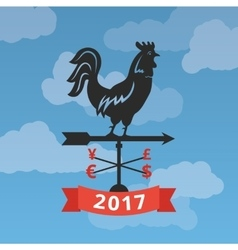 Financial forecast for year of Rooster vector image
