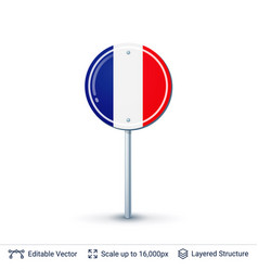 france flag isolated on white vector image vector image