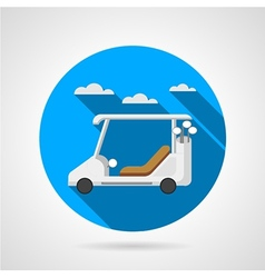 Golf car flat icon vector image