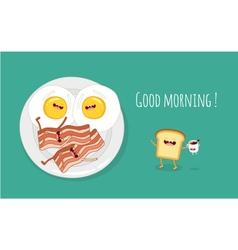 Good morning breakfast vector