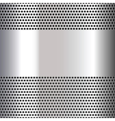 Gray background perforated sheet vector image vector image