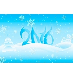 Happy New Year 2016 Text Design vector image vector image