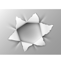 Hole in steel plate vector