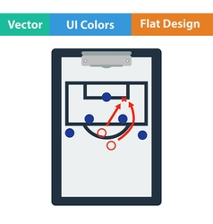 Icon of football coach tablet with game plan vector image vector image