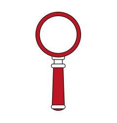 magnifying glass design vector image