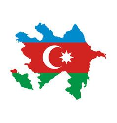map of azerbaijan vector image vector image