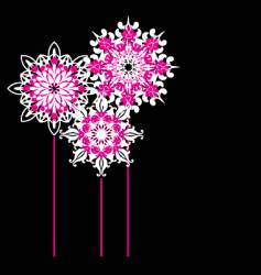 ornate flowers vector image