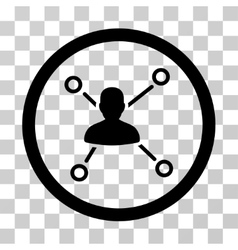 Person relations icon vector