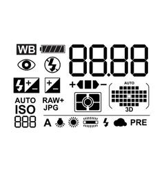 Photo symbols collection vector