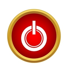 Power button icon in simple style vector