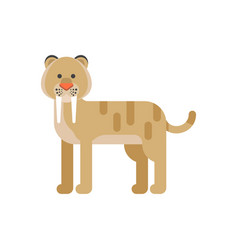 saber-toothed tiger vector image