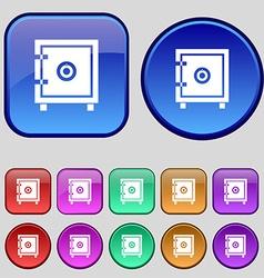 Safe money icon sign A set of twelve vintage vector image vector image