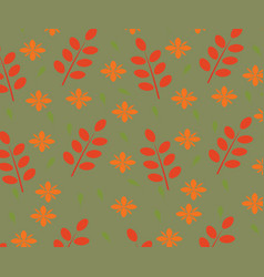 Seamles autumn leaves pattern vector