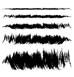 Set of black smear vector