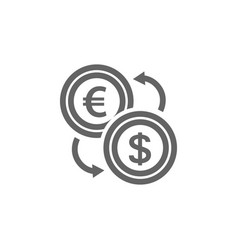 simple currency converter line icon symbol and vector image